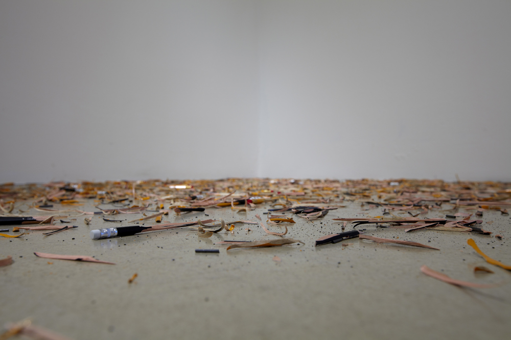 Quirarte + Ornelas, Structure fragments, Shaved pencils, variable size, 2012