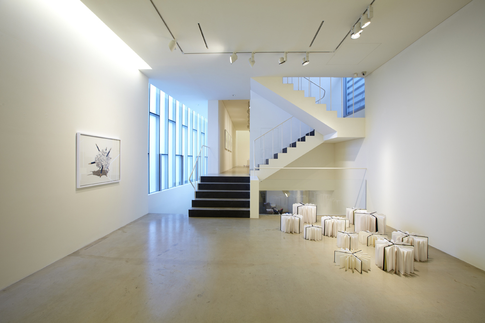 Quirarte + Ornelas, Structure and fragments, Installation view at ONE AND J.Gallery, 2012