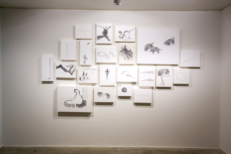 Seungho Yoo, Echoword, Installation view at ONE AND J. GALLERY, 2005