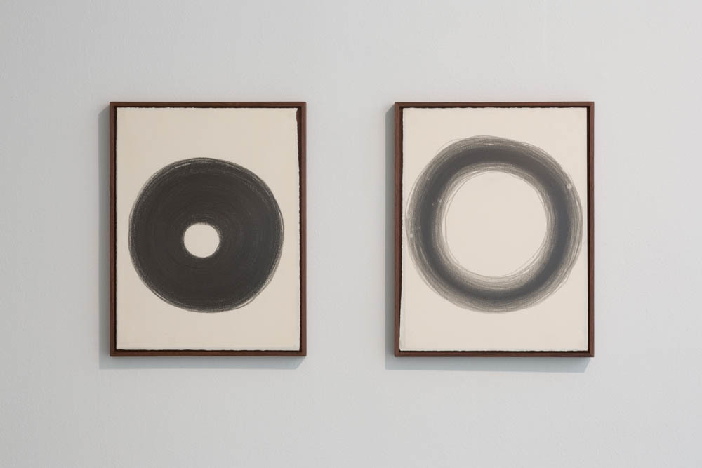 Jiieh Hur, Sound drawing l, Charcoal on paper, wooden frame, 32.4x27.4cm, 2012