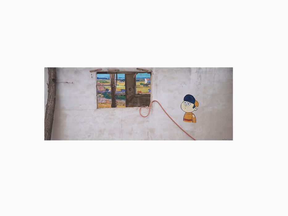 강홍구, 고흐, 사진에 아크릴, 35x100cm, 2015, ONE AND J