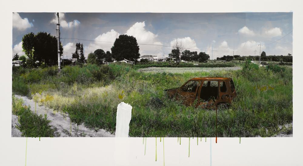 강홍구, 녹색에 대한 연구 - 녹슨 차, 피그먼트 프린트, 60x100cm, 2011