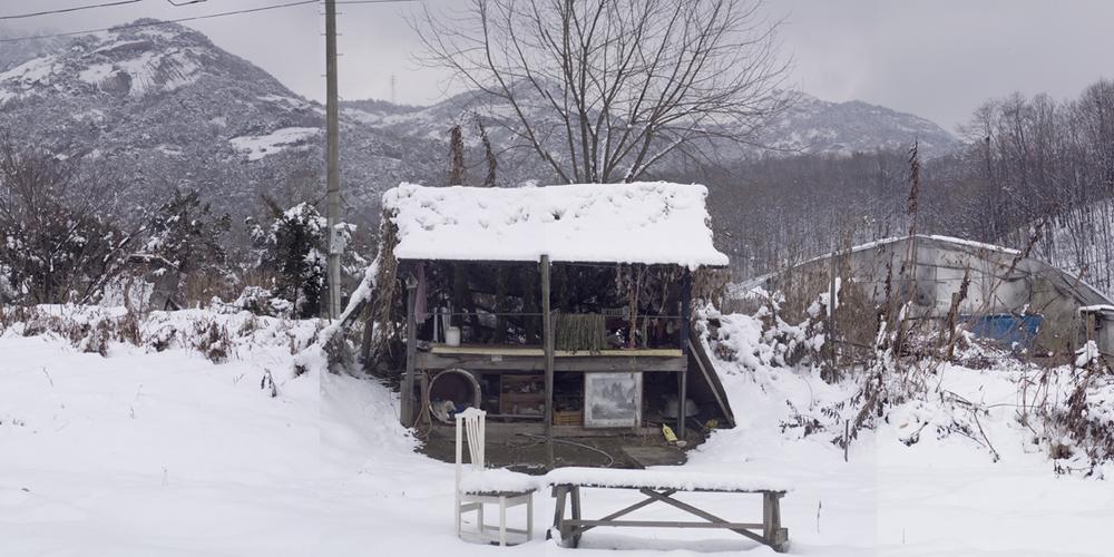 강홍구, 망보는 헛간, 디지털 사진 & 프린트, 200x100cm, 2009