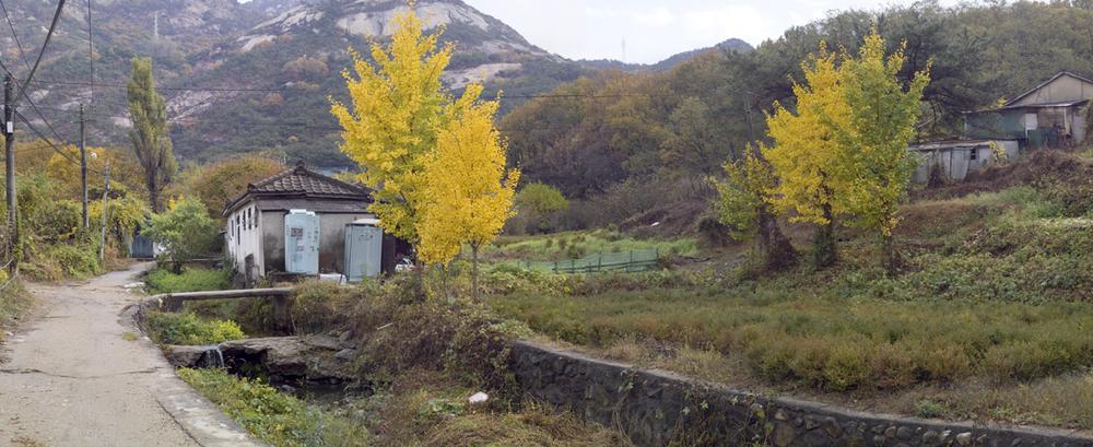 강홍구, 폭포동, 디지털 사진 & 프린트, 220x90cm, 2009 ONE AND J. Gallery