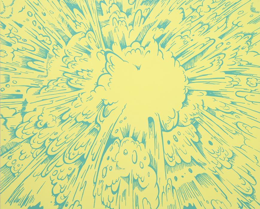 권경환, Occidental Explosion, acrylic on canvas, 130.3x162.2cm, 2014