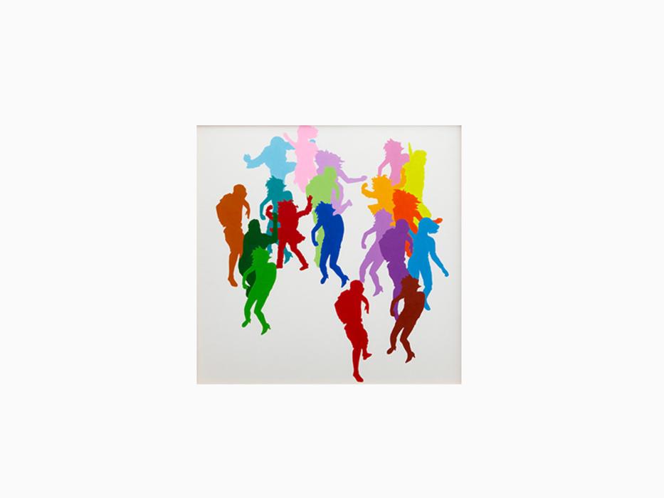 권경환, Rainbow Drawing Series 04, Acrylic color on paper, 51.5x51.5cm, 2009 ONE AND J