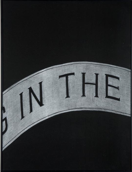 권경환, Untitled012, 검은 종이에 아크릴과 색연필, 71x54cm, 2007