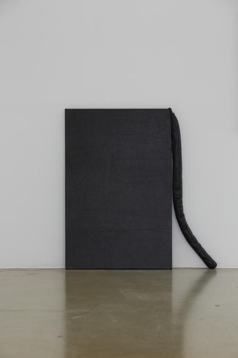 길초실, Doubles, 가죽, 실, 솜, 나무틀, 90x82cm, 2014