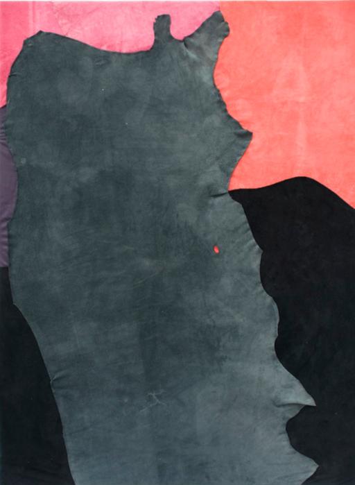 길초실, Goalkeeper, 새끼양 가죽, 소 가죽, 실, 나무, 130x180cm, 2013
