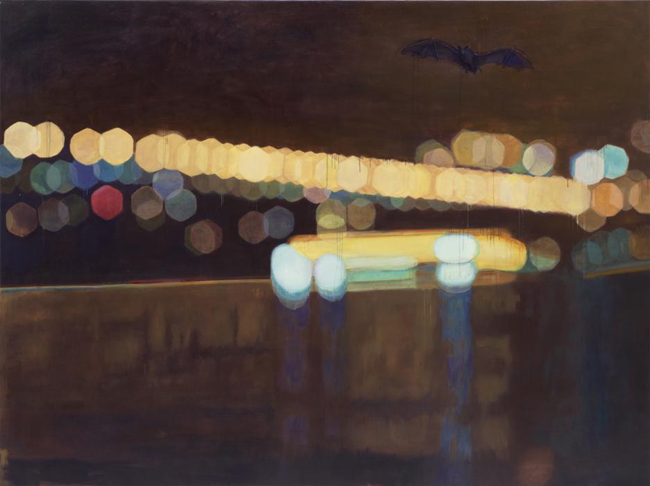 서동욱, 밤-마포대교-외로운 박쥐, 캔버스에 유화, 193.9 x 259.1 cm, 2012