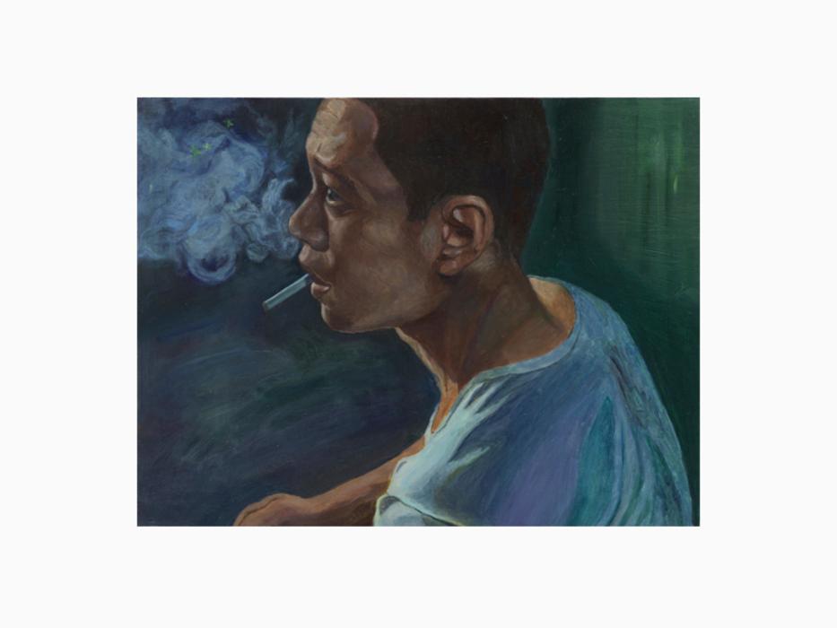 서동욱, 담배연기, 캔버스에 유화, 50.5x65cm, 2012