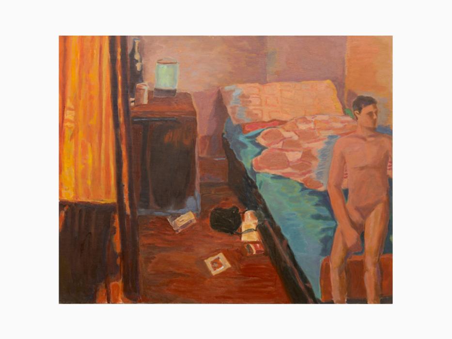 서동욱, 푸른침대, 캔버스에 유화, 72x91cm, 2000