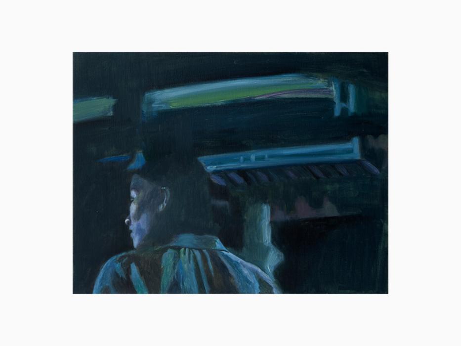 서동욱, 밤-소리, 캔버스에 유화, 45.5x53cm, 2017