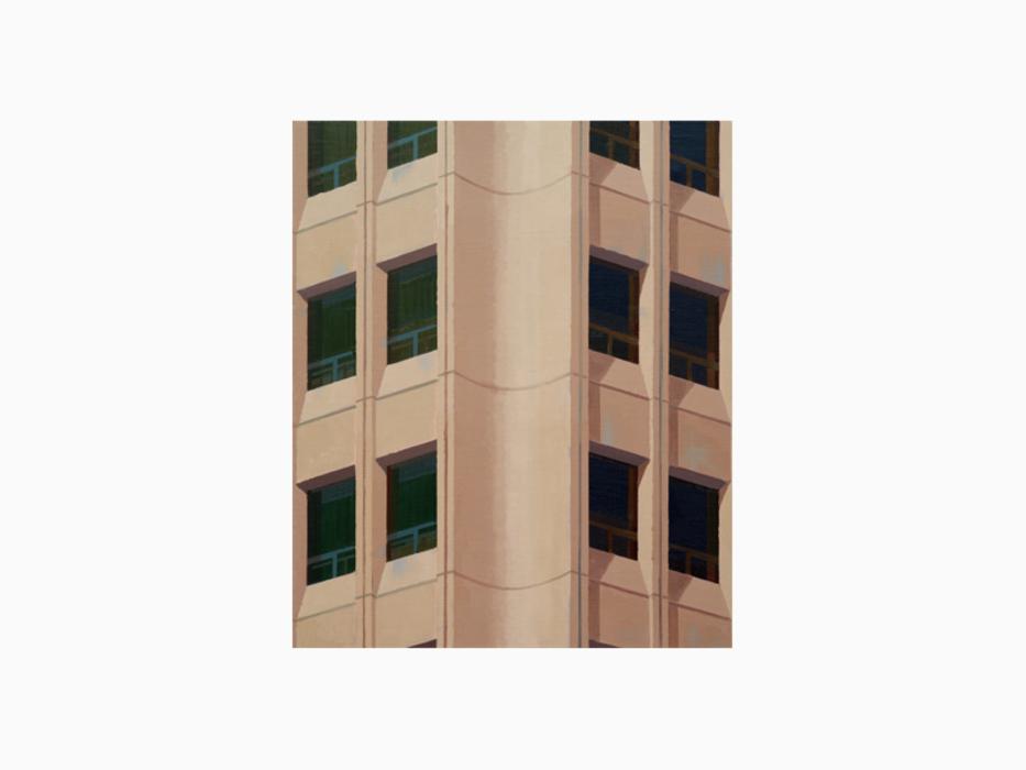김수영, Chon Kun Dang Building, 캔버스에 유화, 45.5x38cm, 2011