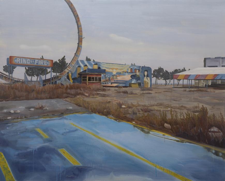 서동욱, 해변의 묘지, 캔버스에 유화, 130x162cm, 2008