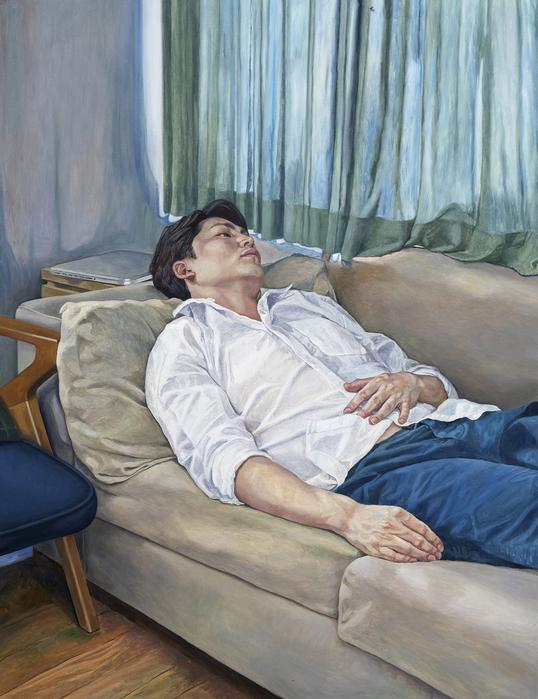 서동욱, 오후 거실-H.S, 캔버스에 유화, 145.5x112.1cm, 2015