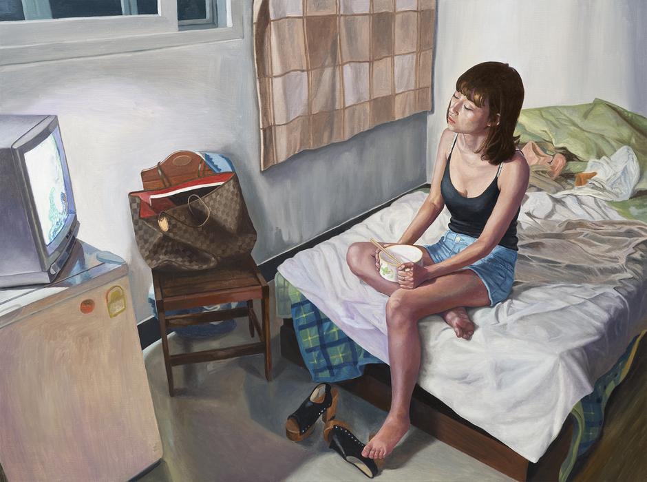 서동욱, TV 디너, 캔버스에 유화, 97x130.3cm, 2017