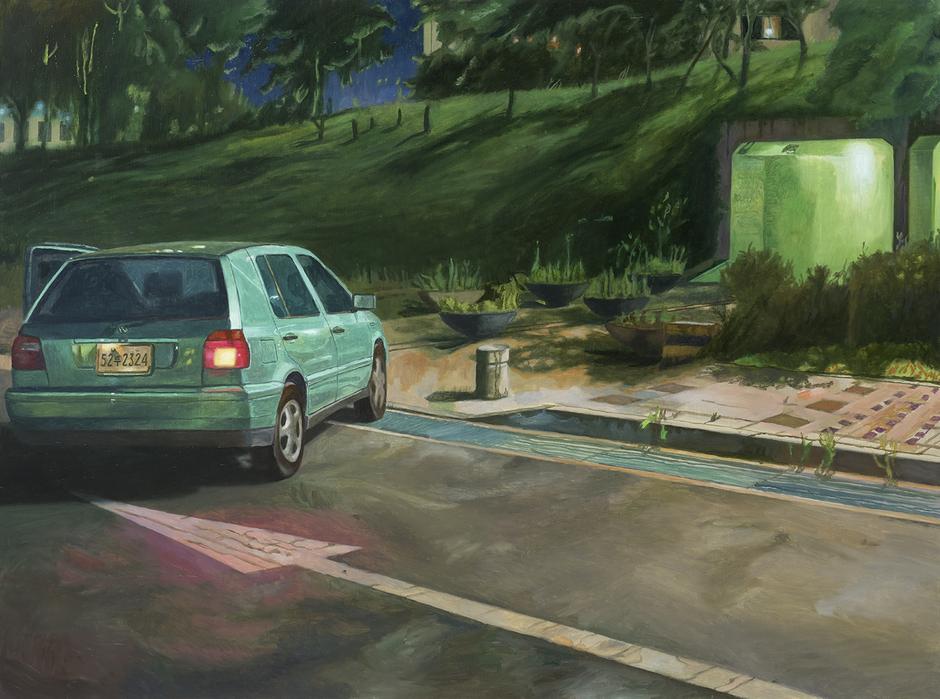 서동욱, 녹색 터널, 캔버스에 유화, 97x130.3cm, 2017