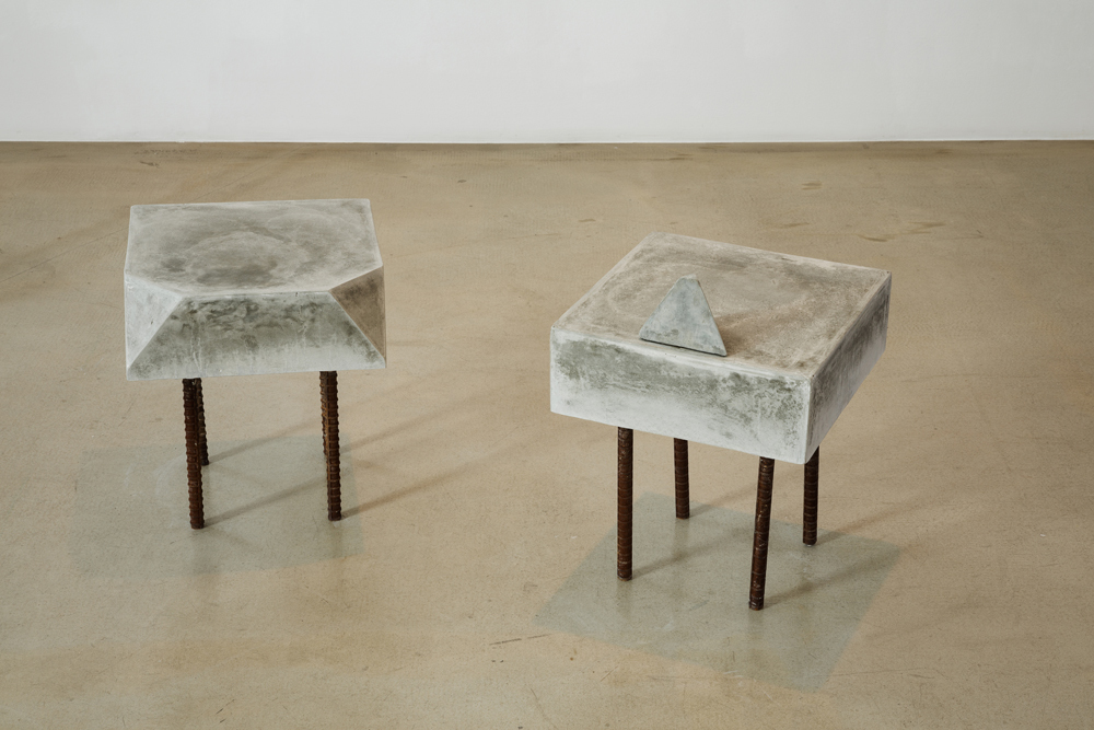 김채린, 스툴, 시멘트와 금속, 25x25x40cm, 25x35x50m, 2014