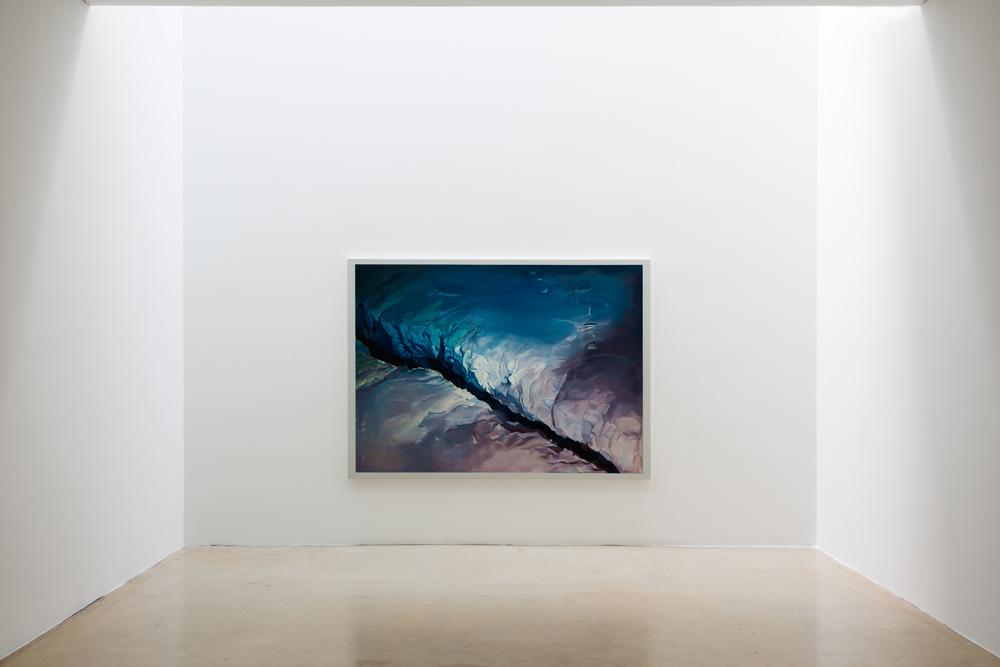 Eimei Kaneyama, 틈, 캔버스에 유화, 140x195cm, 2014