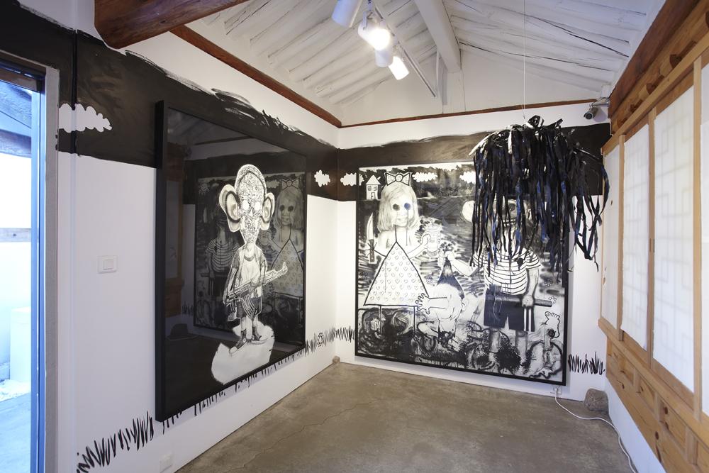 제롬 존더, Guignols Dust, 전시장 뷰, 2009