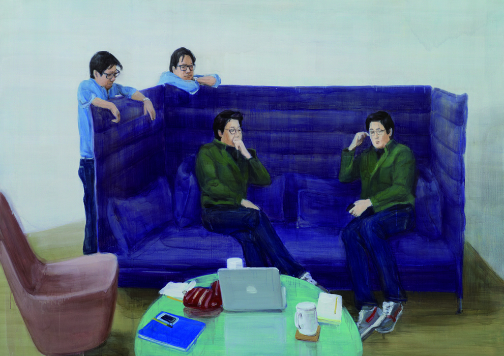 박진아, Doubled, 캔버스에 유화, 162x227cm, 2012
