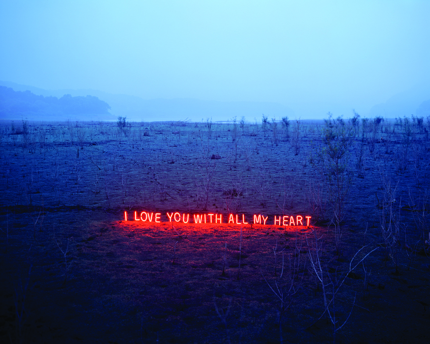 이정, I love you with all my heart, C-type print, 160x200cm, 2010