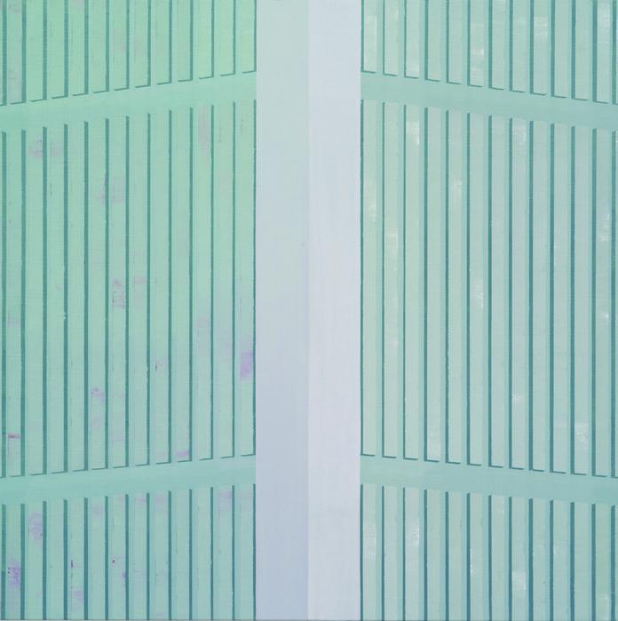 김수영, Both sides, 캔버스에 유화, 72.7 x 72.7cm, 2011