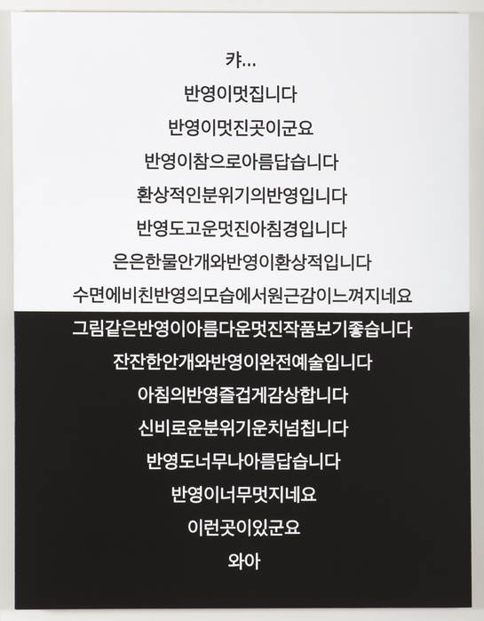 김윤호, 반영 (Reflection), 캔버스에 아크릴, 145.5x112cm, 2013