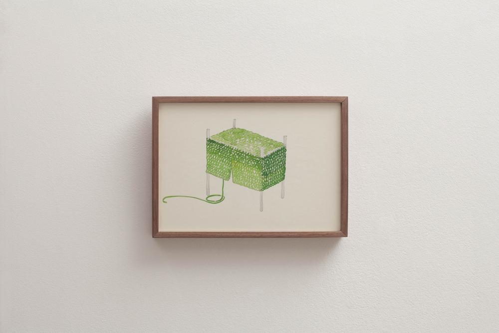 이광호, 전기 스탠드, 나무 프레임, 22.5x31cm, 2012