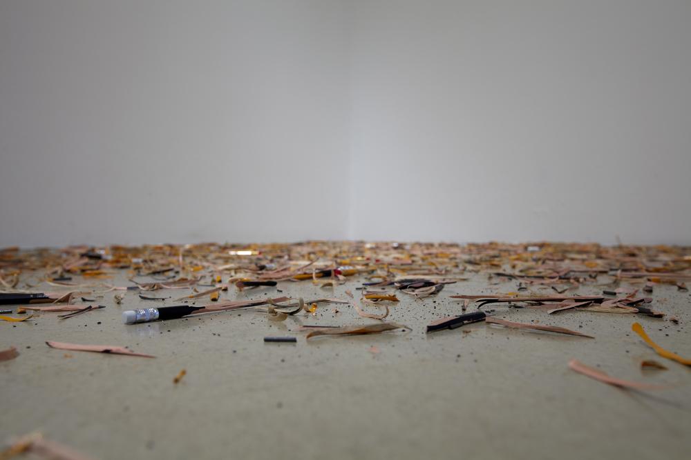 Quirarte + Ornelas, 구조와 조각들, 깎은 연필. 다양한 사이즈, 2012