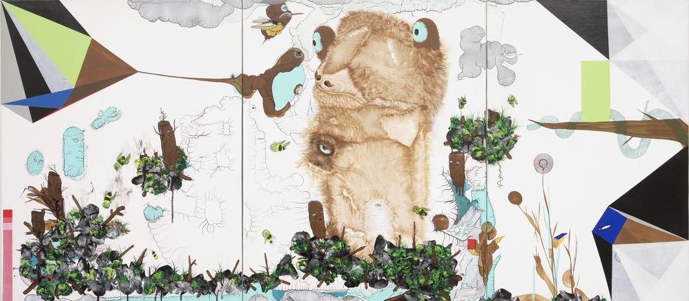 오승열, Apescape, 캔버스에 유화, 90x205cm, 2009