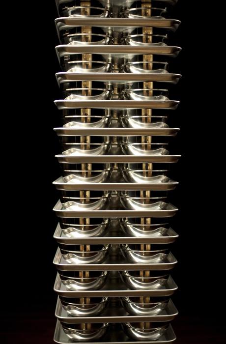 오승열, Lot Lot, 스테인레스 스틸 및 알루미늄, 가변 크기, 2013