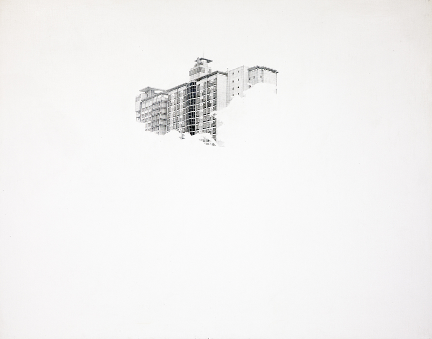 신수혁, 오피스텔-1, 캔버스에 소묘, 130x162cm, 2008