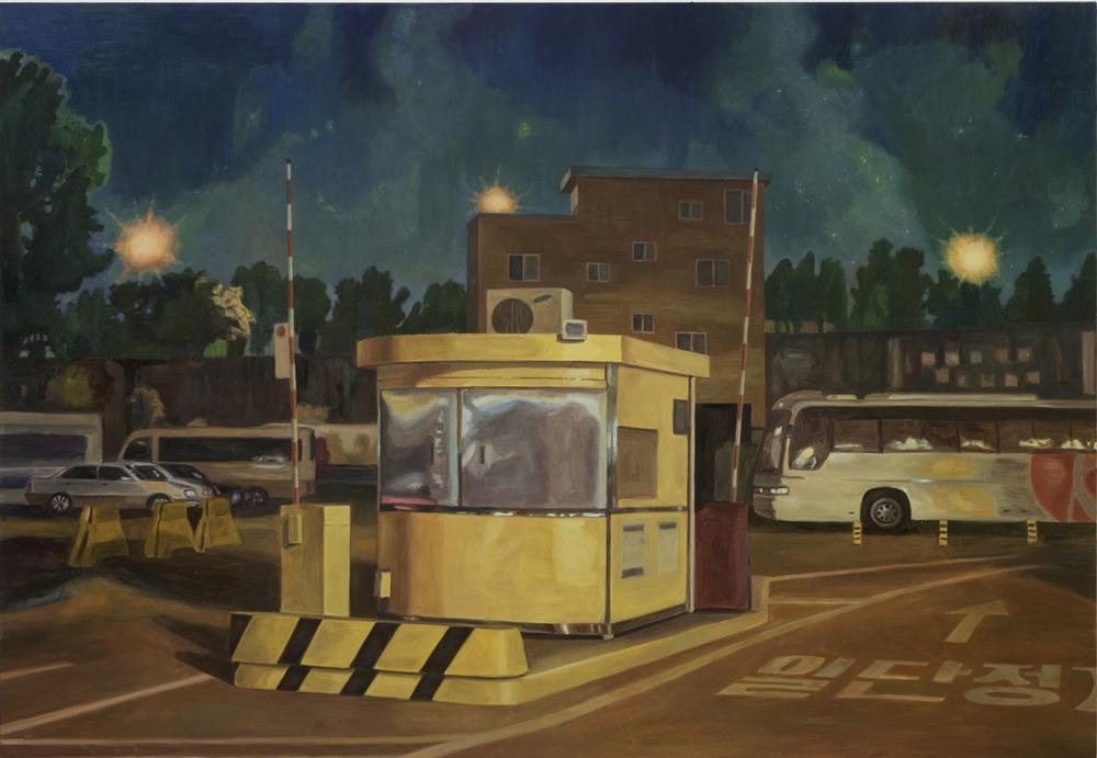 서동욱, 밤, 한강 공영주차장, 여의도 지구, 캔버스에 유화, 162.2x112.1cm, 2011