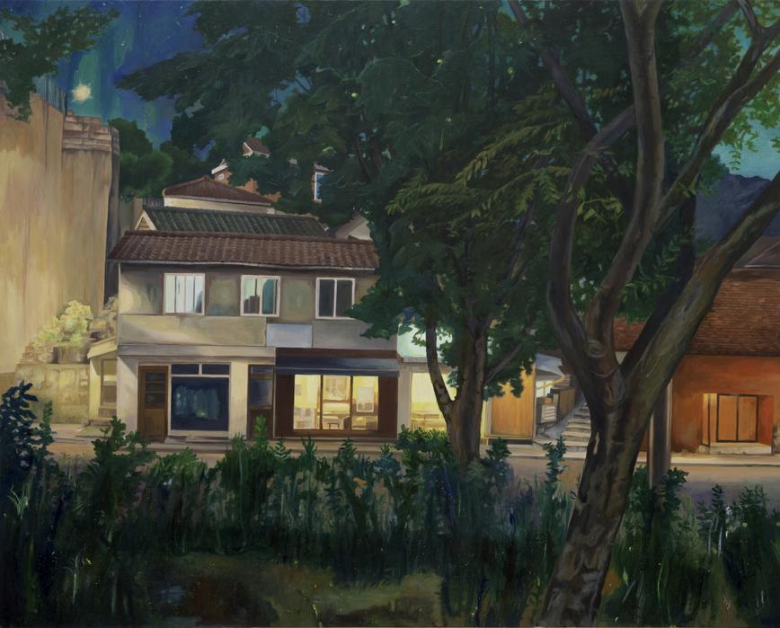서동욱, S#저녁-부암동, Oil on canvas, 162.2x130.3cm, 2011