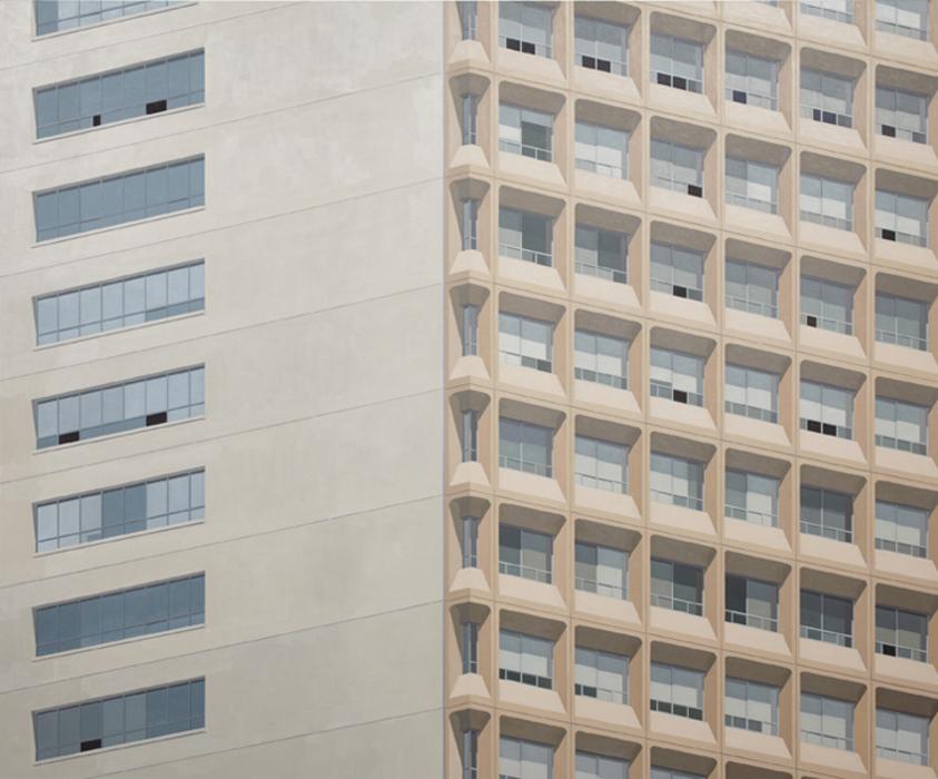 김수영, Dongbu Insurance Building 3pm, 캔버스에 유화, 200x240cm, 2009