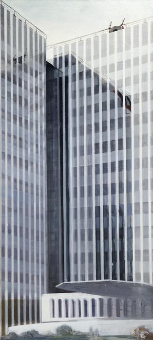 김수영, RWI Headquarters(02), 캔버스에 유화, 220x130cm, 2002
