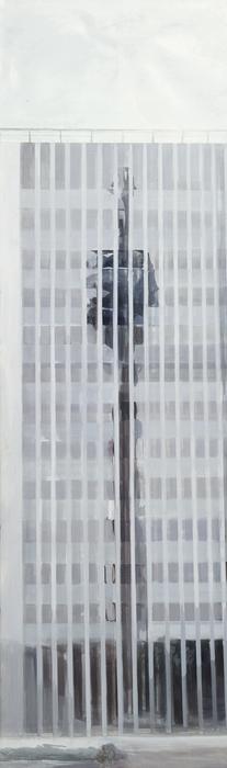 김수영, RWI Headquarters(03), 캔버스에 유화, 250x90cm, 2002