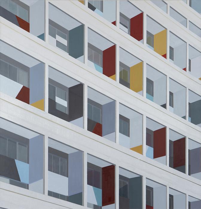 김수영, Residential House in Berlin(036), 캔버스에 유화, 145x135cm, 2007
