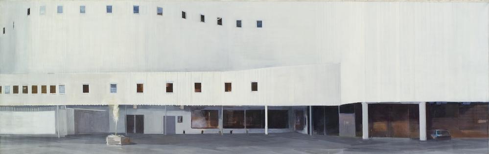 김수영, 극장, 캔버스에 유화, 130x400cm, 2002