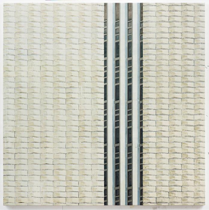 김수영, Work No.7, 린넨에 유화, 130x130cm, 2013