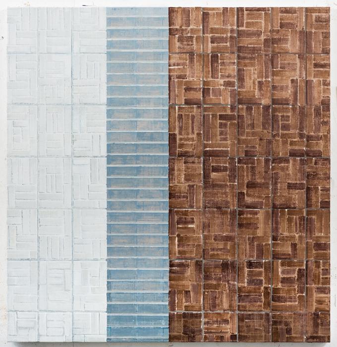 김수영, 린넨에 유화, Work No.8, 88 x 85cm, 2013