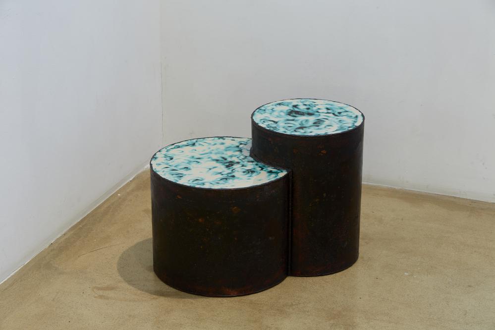 이광호, 일식의 순간, Authentic korean enamel, 41 x 59.5 x 38cm, 2014