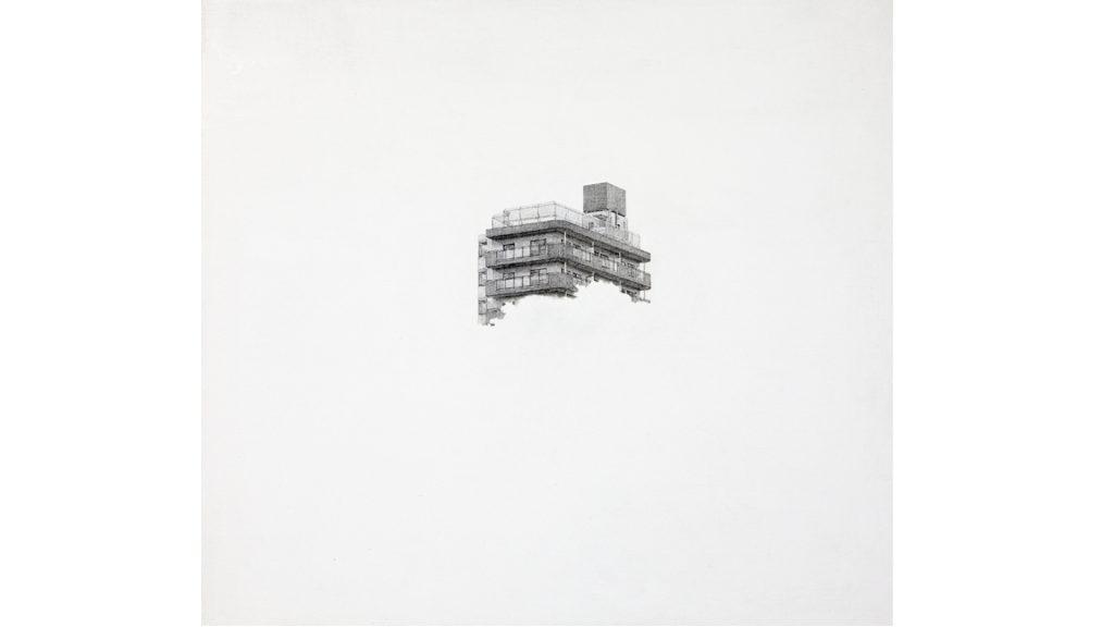 신수혁, 아파트-1, 캔버스에 소묘, 102.5 x 94.5cm