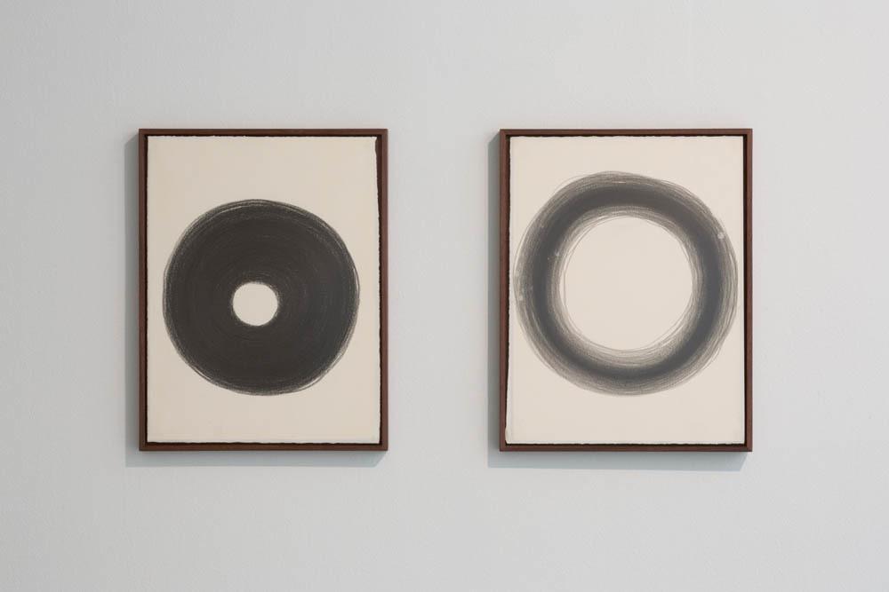 허지애, Sound drawing l, 종이에 흑연 나무 프레임, 32.4x27.4cm, 2012