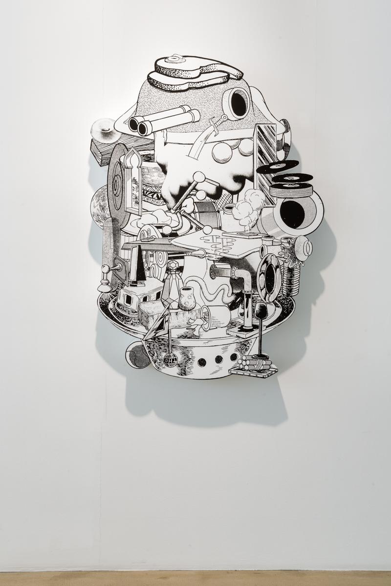 Teppei Kaneuji, 게임, 춤, 그리고 조립설명서(soft toys)#16, 천에 실크프린트, 아크릴, 나무, 2015